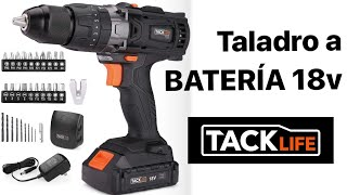 REVIEW Taladro TACK LIFE PCD04C 18v, REVIEW completa y opinion.