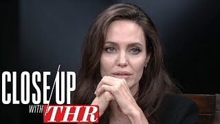 angelina jolie on first they killed my fathers existential production close up with thr