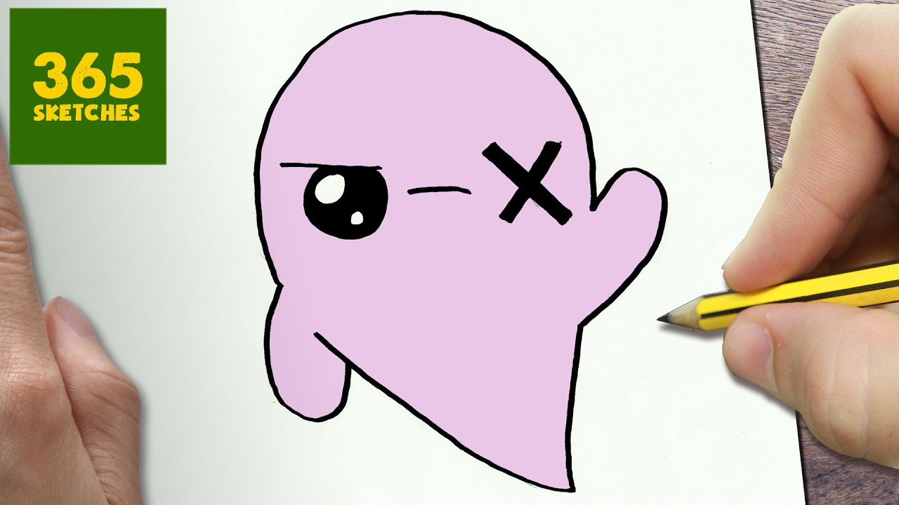 How to draw a ghost cute easy step by step drawing for Cute hard drawings
