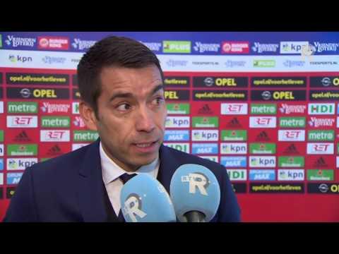Giovanni van Bronckhorst na afloop van Feyenoord - FC Utrecht