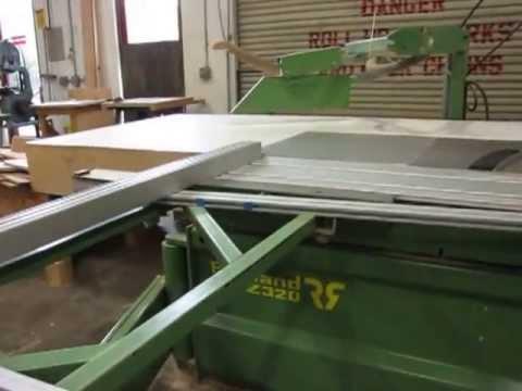 robland z320 sliding table saw youtube rh youtube com Powermatic Sliding Table Saw Powermatic Sliding Table Saw