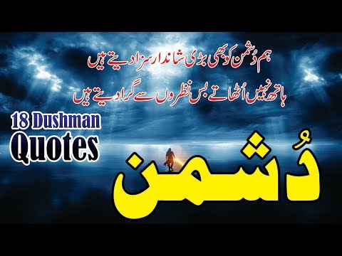 Dushman 18 Best Quotes In Urdu Hindi With Voice And Images || Quotes About Dushman