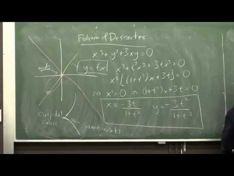DiffGeom3: Parametrized curves and algebraic curves
