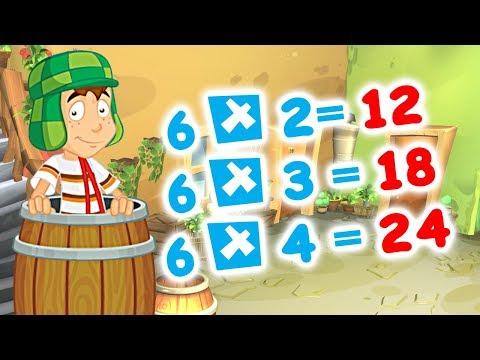 El Chavo Animado | Tabla de multiplicar del 6, Canción tablas de Multiplicar con el Chavo Animado