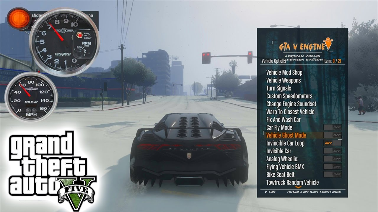 Install put the GTAVMenuxex on your usb stick and put it in your Xbox 360 then create your Dashlaunch and add the GTAVMenuxex in one of the free plugins then Sterte the new console Then you