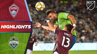 Colorado Rapids vs. Seattle Sounders FC | HIGHLIGHTS - September 7, 2019