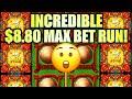 INCREDIBLE $8.80 MAX BET RUN!! $100 START! LUCKY 88 FORTUNES Slot Machine (SG)