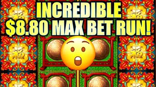 Incredible $8.80 Max Bet Run!! $100 Start! Lucky 88 Fortunes Slot Machine  Sg