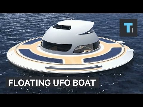 Floating UFO home lets you live underwater