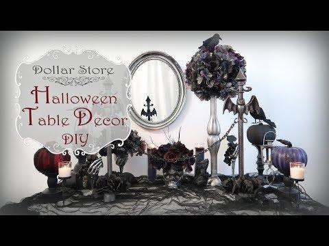 Halloween Table Decor DIY / Dollar Tree  DIY