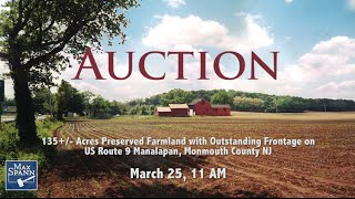 135+/- Acres Preserved Farmland with Outstanding Frontage