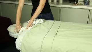 Download Video How to Set Up a Comfortable Massage Table : Massage Therapy, Oils & Aromatherapy MP3 3GP MP4