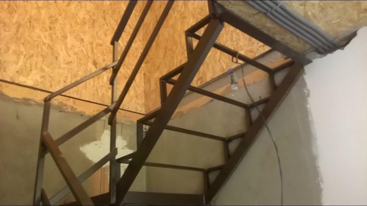 Как сварить лестницу из уголка на второй этаж