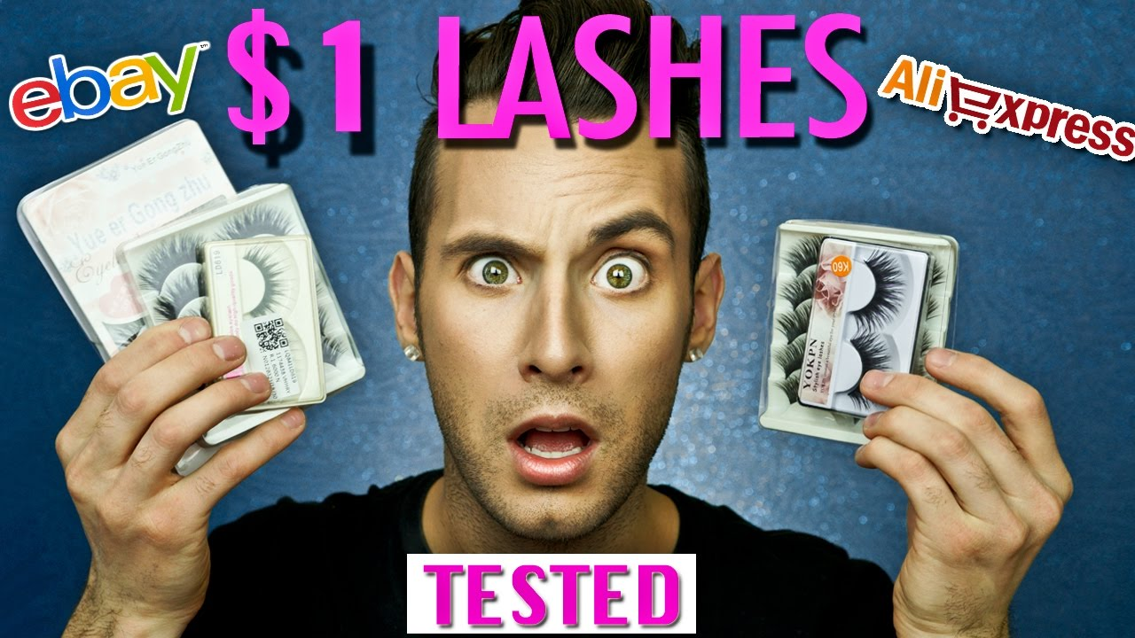 df53b9e27bc $1 False Lashes TESTED! | NEVER PAYING $$$ AGAIN | PopLuxe - YouTube