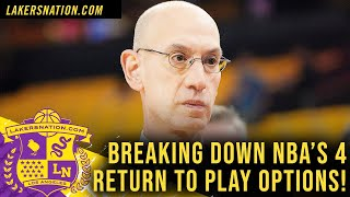 Breaking Down Nba's 4 Return Plans For Lakers, Vote On The Way