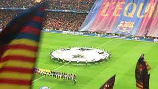 UEFA Champions League Anthem FC Barcelona - PSG 6:1