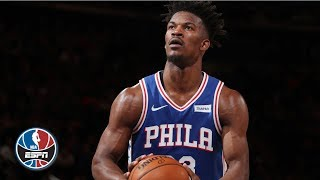 76ers use 83-point first half in Jimmy Butler's reunion vs. the Timberwolves | NBA Highlights