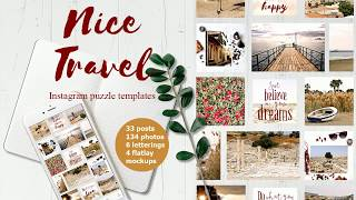 Nice Travel Instagram Template set