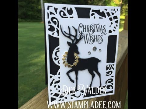 Dashing Deer A Quick And Elegant Christmas Card With Deb