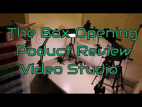DIY Home Video Studio Setup for Box Openings or Product Reviews including Video Studio Lighting