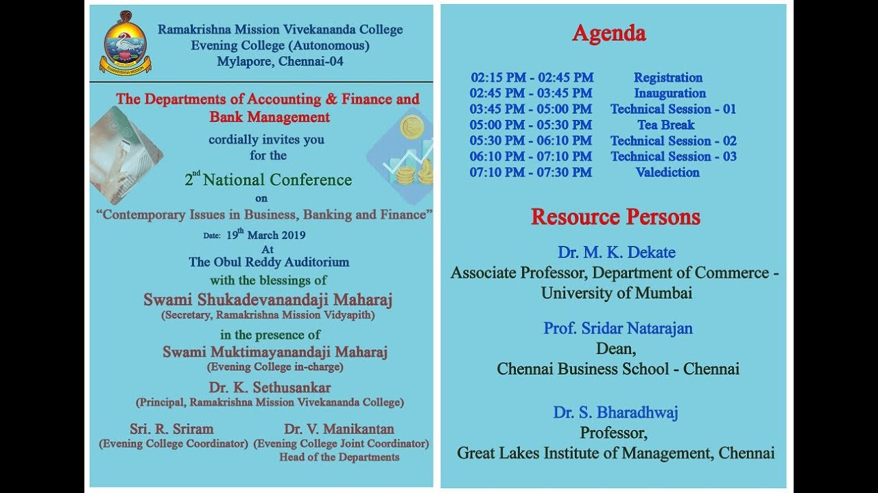 "National Conference on ""Contemporary Issues in Business Banking and Finance"""