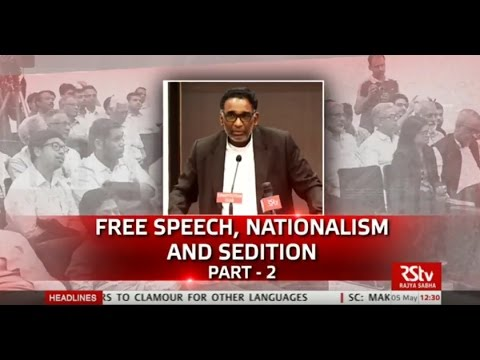 Discourse on FREE SPEECH, NATIONALISM AND SEDITION ( Patr-2)