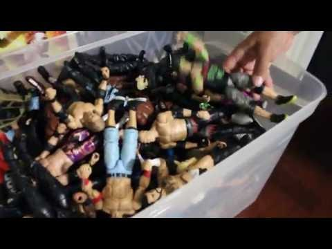 MY OPEN WWE ACTION FIGURE COLLECTION PREVIEW!!!! WRESTLING TOY COLLECTOR