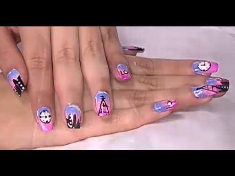 Como Pintarse Las Uñas De Colores Con Tecnica Difuminado Hogar Tv