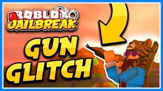 ROBLOX JAILBREAK CRAZY MACHINE GUN GLITCH! (NEVER GET ARRESTED BY COPS!)