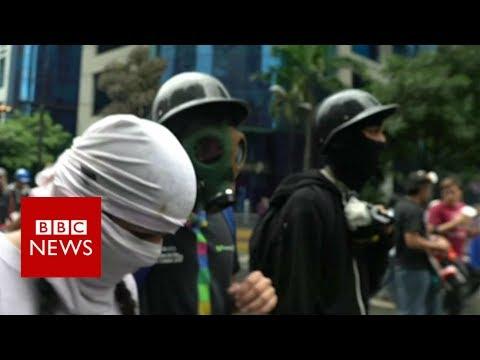 Meet 'The Resistance': Venezuela's frontline protest army- BBC News
