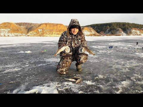 Зимняя рыбалка берш на тюльку Кама Трой Урай