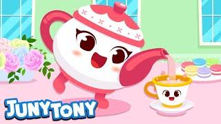 I'm a Little Teapot   Nursery Rhymes for Kids   Kindergarten Song   JunyTony Songs for Children