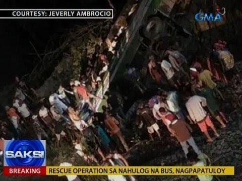 Saksi: Pampasaherong bus, nahulog sa tulay sa Occidental Mindoro