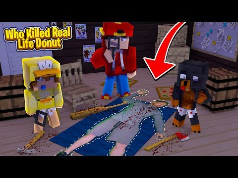 Minecraft Murder Mystery - WHO KILLED DONUT THE DOG IN REAL LIFE?!