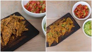 Mexican Fiesta! Tortilla Chips With Guacamole & Tomato Salsa