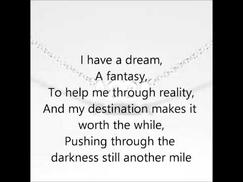 Abba- I Have A Dream Lyrics