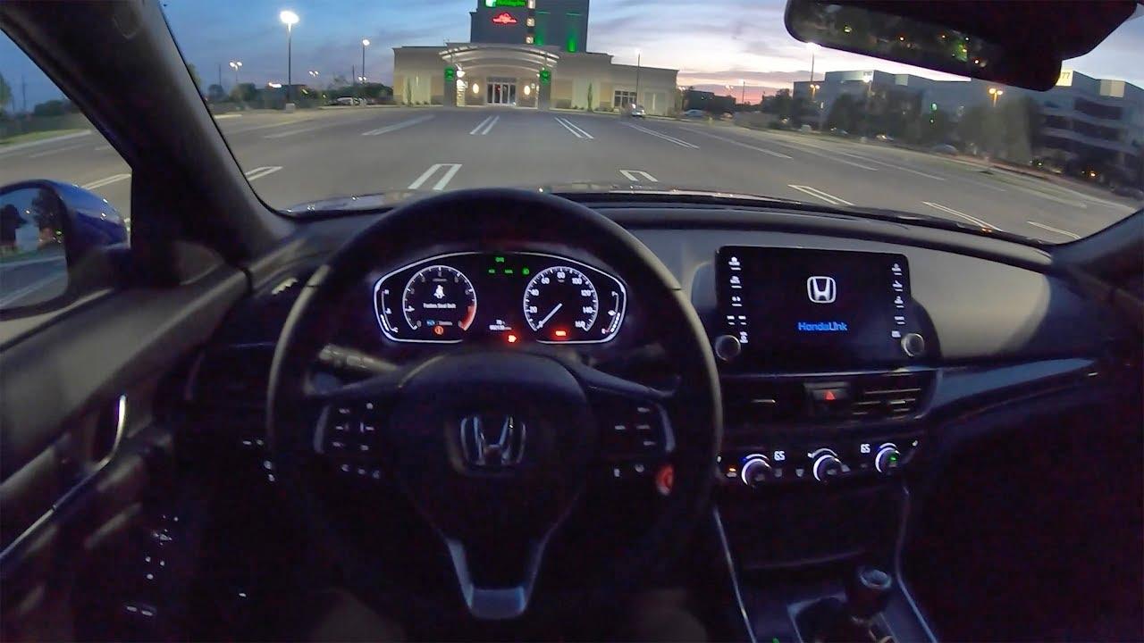 Honda Accord Sport >> 2019 Honda Accord 2.0T Sport 6-Speed Manual - POV Night Driving Impressions - YouTube