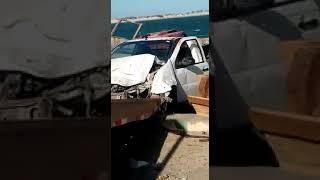 Carro perde o controle na avenida Beira-mar de Camocim