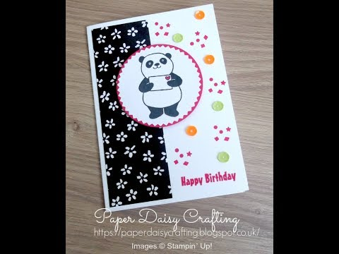 Easy handmade card tutorial - Party Pandas Stampin' Up!