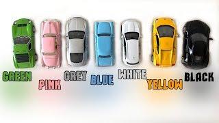 Учим цвета на английском с машинками кинсмарт. Машинки по всей квартире. Видео для детей.