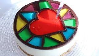 Stained-Glass Nobake Cheesecake