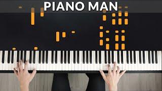 Billy Joel - Piano Man | Tutorial of my Piano Cover + Sheet Music видео