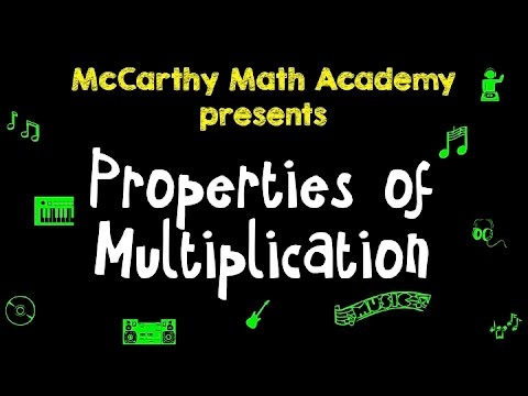 Commutative, Associative, Distributive - Properties of Multiplication Song