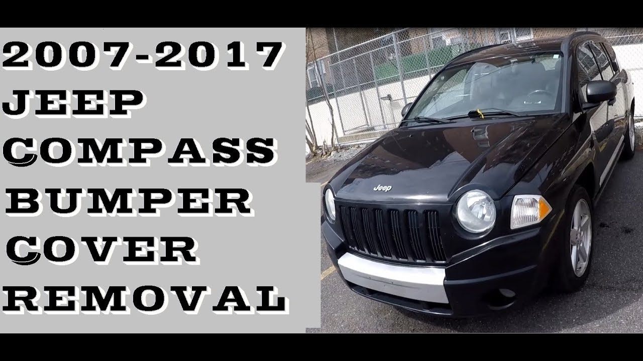 hight resolution of how to remove front bumper in jeep compass 2007 2017