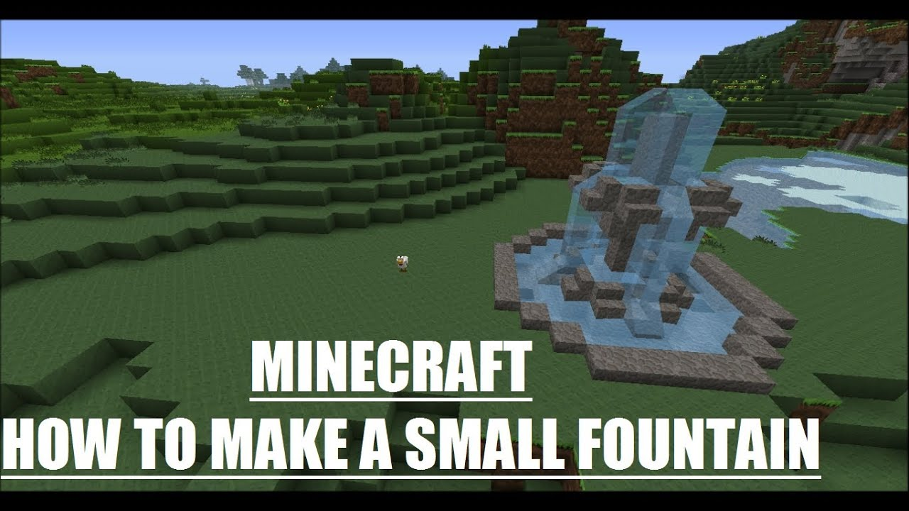 Minecraft How To Make A Small Fountain Youtube