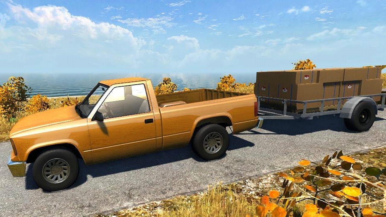 Beamng Drive Alpha Pickup Truck Trailer On Small Island Usa You