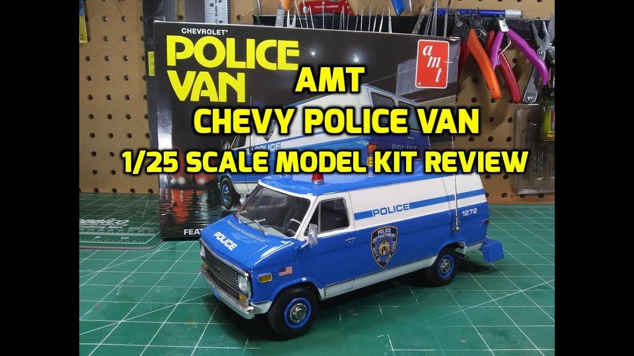 AMT Chevy Police Van NYPD 1/25 Scale Model Kit Build ...