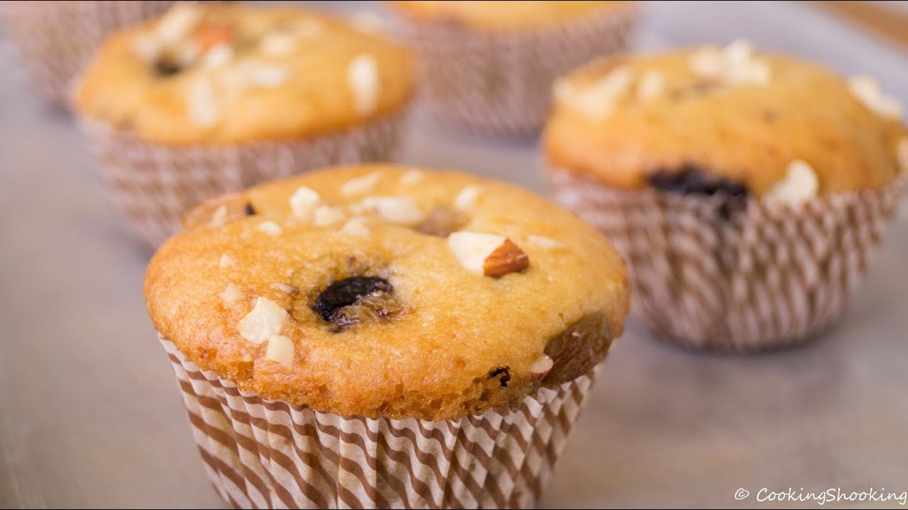 Pressure Cooker Dry Fruits Muffins Recipe Eggless Baking Without Oven Youtube