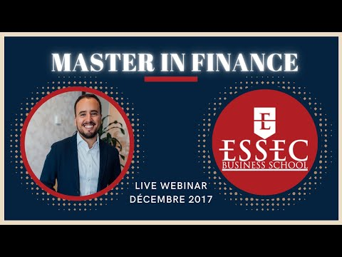 Live Facebook sur le Master in Finance de l'ESSEC par AlumnEye