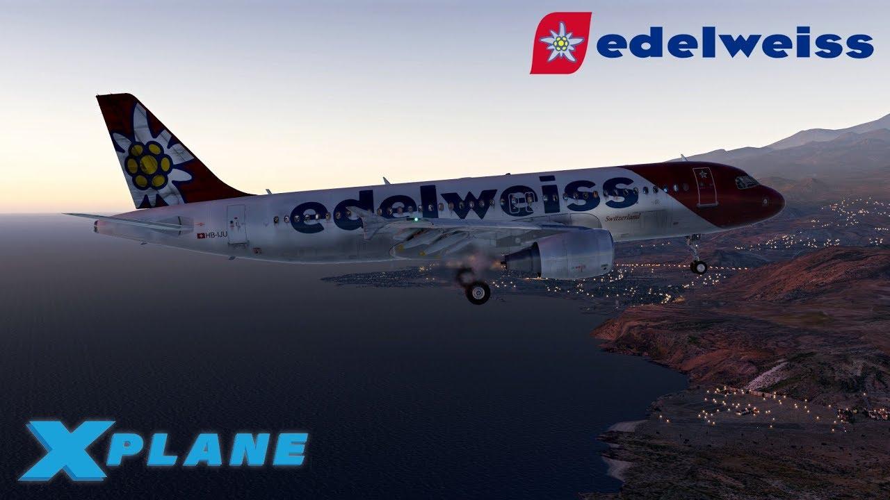 Edelweiss FF A320 NEW MATAVIA MOD | Zurich - Tenerife | X Plane 11